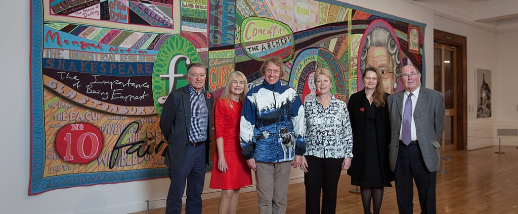 Photograph of Major work by Turner Prize-winning artist Grayson Perry at the Graves Gallery